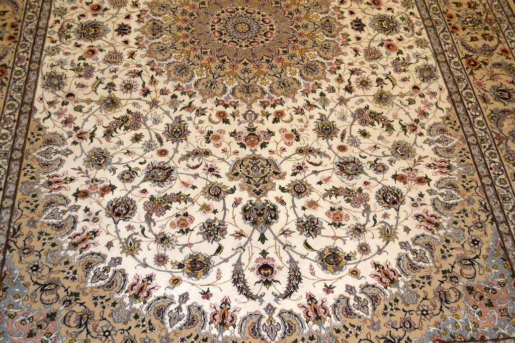 Pair Isfahan Esfahan Kaf Abrisham 7x10 persian Fine Area Rug (12)