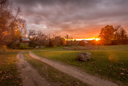 autumn sunset vermont side country foliage 6d