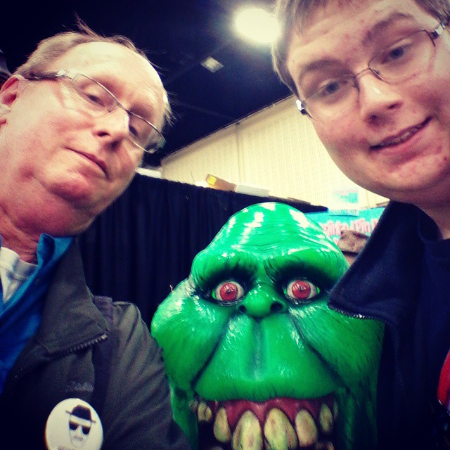Logan and I,  along with extra chin at #comicontulsa #comicon #tulsa #oklahoma #igersok