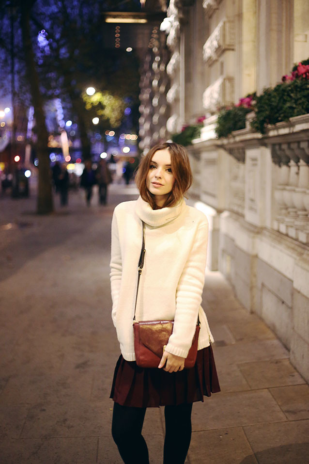 Winter Reiss Outfit AW14 What Olivia Did Jack Wills Peacoat