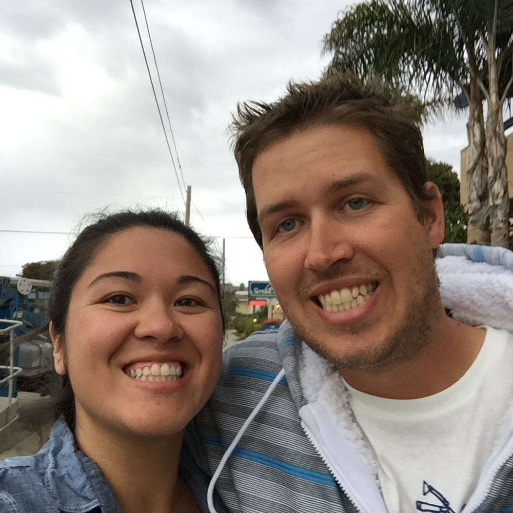 On Our Anniversary Trip to Morro Bay