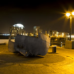 Merchant Seafarers' War Memorial at Night , Cardiff Bay, Wales