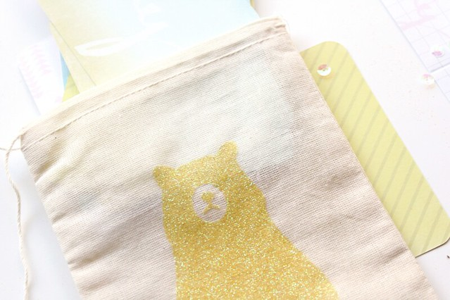 glitter canvas bags | lemon drop glitter
