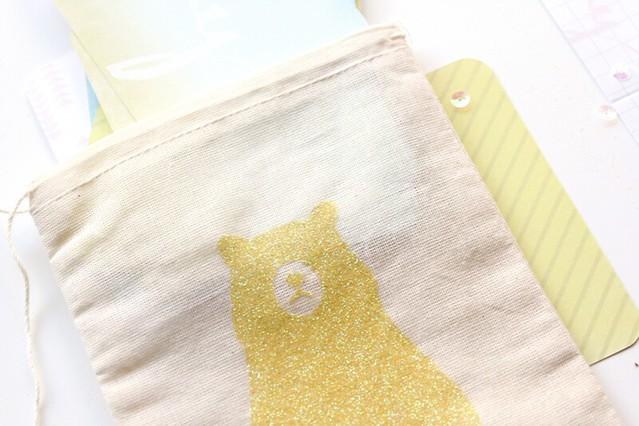 glitter canvas bags | lemon drop glitter