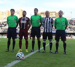 TRÍO ARBITRAL Y CAPITANES DEL FC CARTAGENA CÓRDOBA B (2)