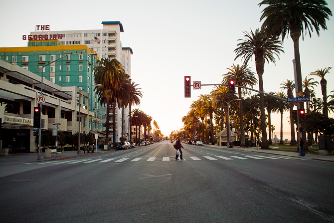 los angeles city street