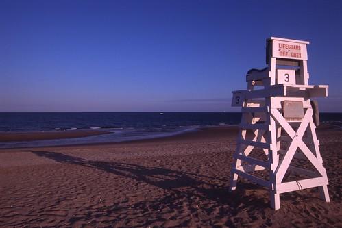 film beach nikon kodak connecticut ct nikonf100 nikkor e6 fairfield lifeguardchair kodakelitechrome100 penfieldbeach fairfieldcounty nikonaf1835mmf3545dedif