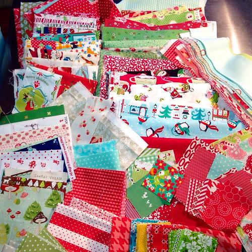 Stocking fabric pull