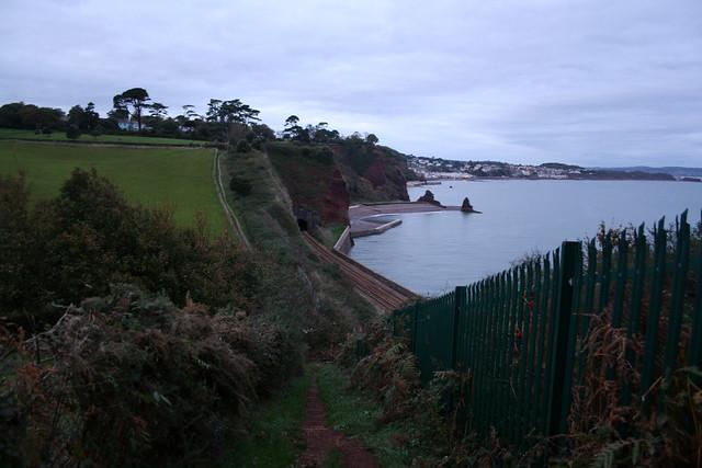 The South West Coast path near Dawlish