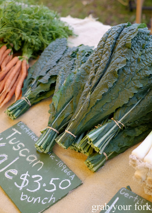 Certified organic Tuscan kale at Abbotsford Convent Slow Food Farmers Market