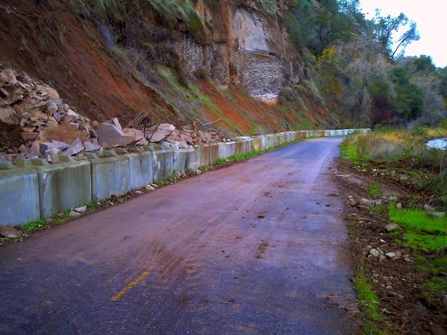 After the rock slide