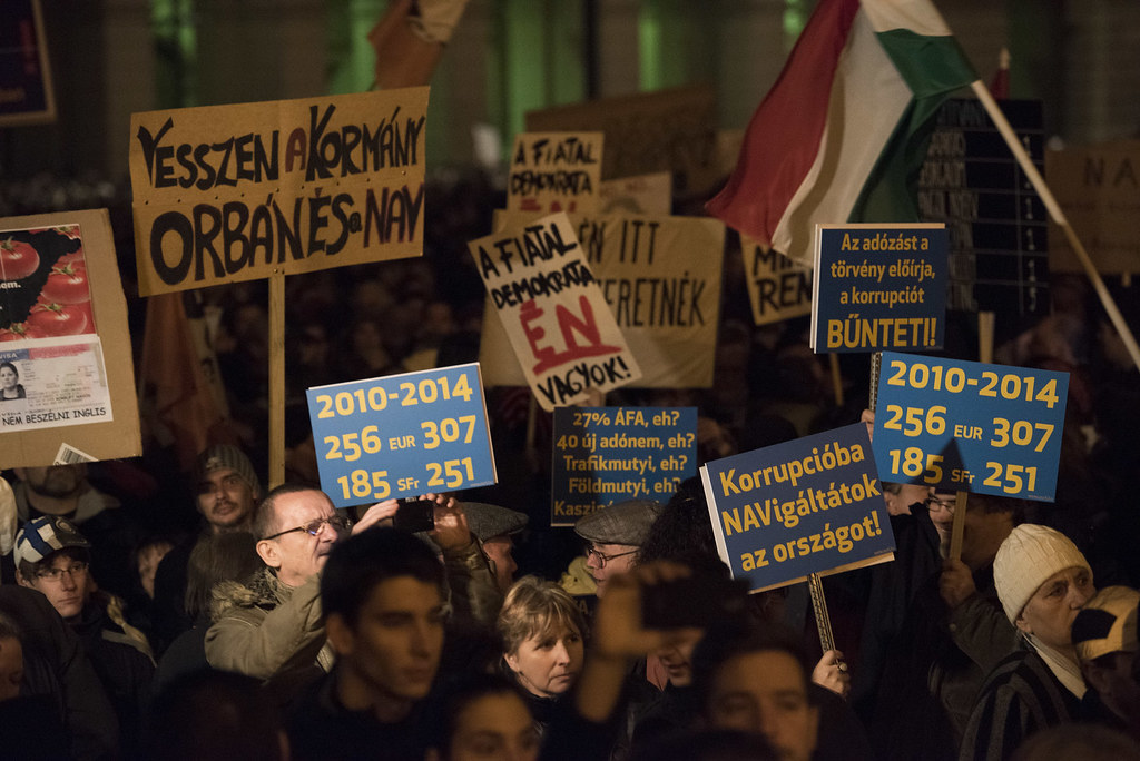 Tüntetés az Orbán-kormány ellen