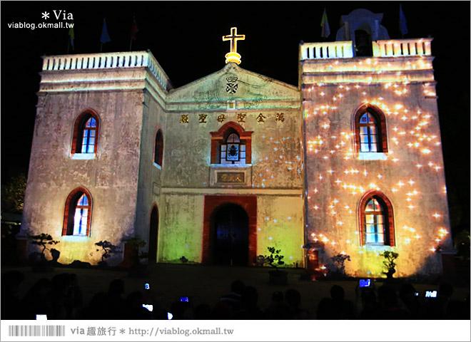 【萬金教堂】屏東萬金教堂聖誕季~3D光雕秀+耶誕地景藝術/全台最濃耶味小鎮!11