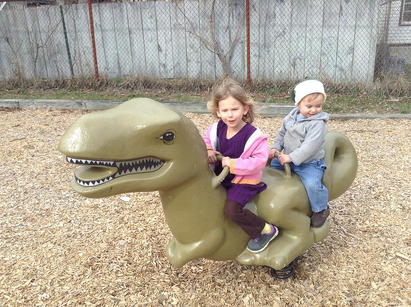 ride 'em dinosaur kids!