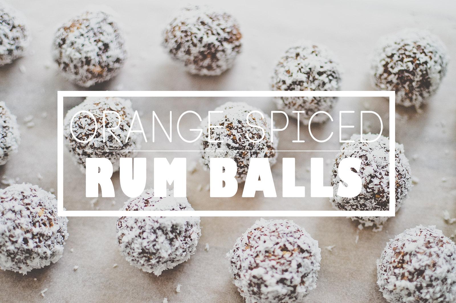 Orange Spiced Rum Balls