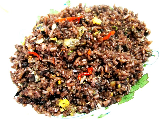 Dabai fried rice with air budu