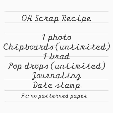 October Afternoon Scrap Recipe challenge (dec 1st 2014)