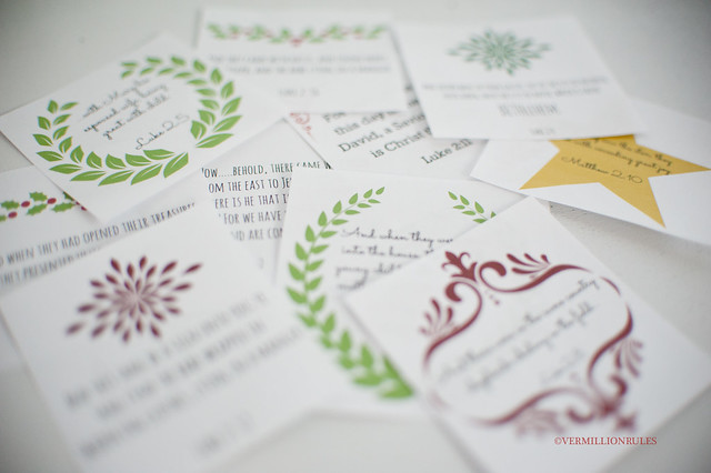 Printables for 12 days of Christmas from Vermillion Rules
