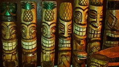 carving, art, wood, tiki,