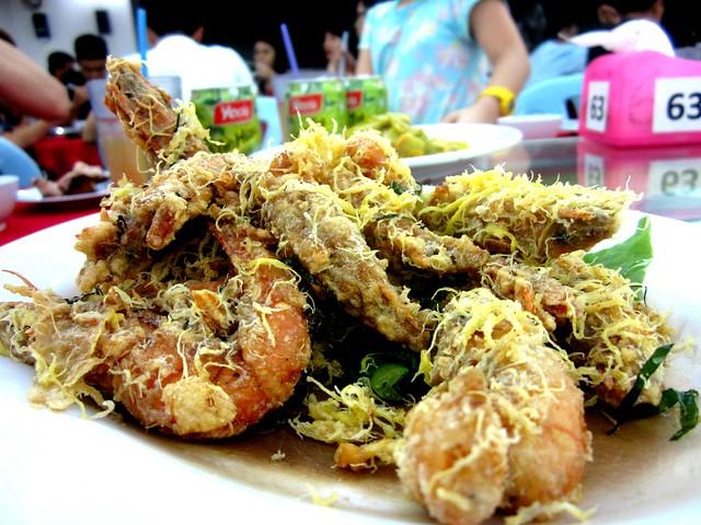 Hong Fu butter prawns