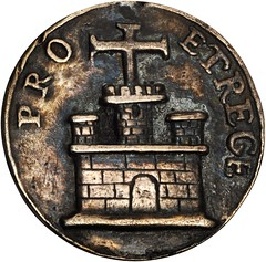 Lot 1002. MEXICO. Veracruz. Cast Silver Proclamation Medal, 1701 reverse