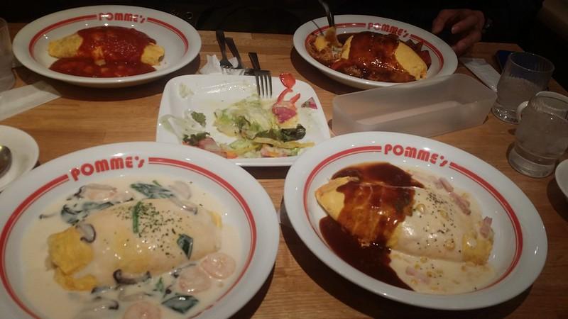 shibuya dinner - pomme's omu rice 3