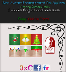 3xC-Merry Xmas nails