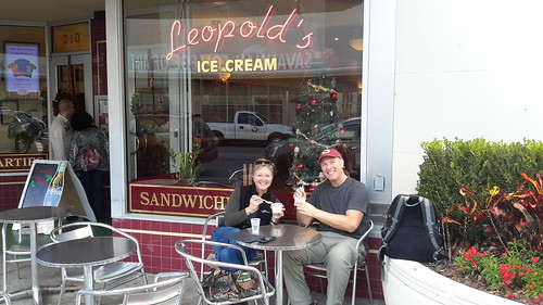 Leopold's Ice Cream - voted 5th best in the whole world!