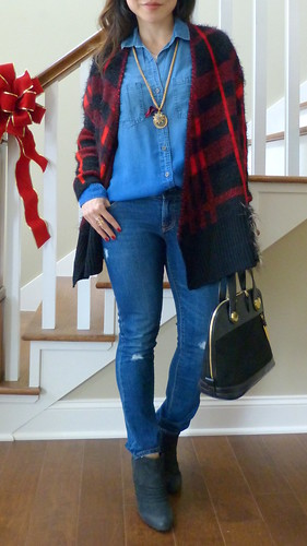 sheinside contrast plaid