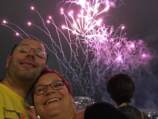 Fireworks at Darling Harbour on Christmas eve