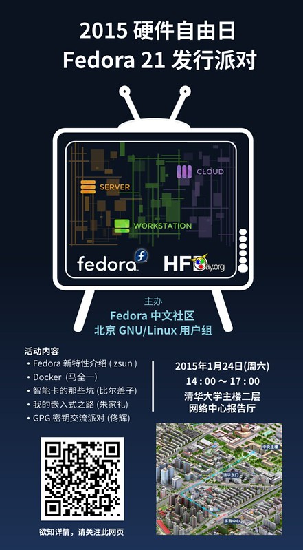 Fedora 21 发行派对北京站