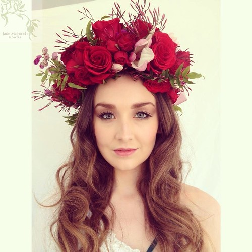 Flower bridal headpiece.