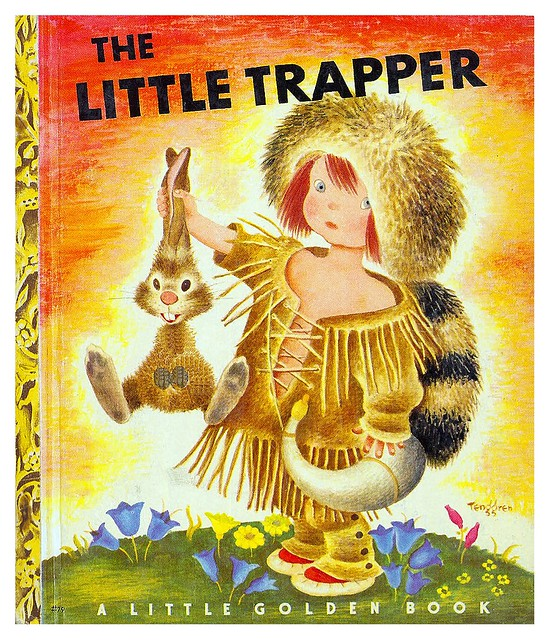001-The Little Trapper- Illustrated Gustaf Tenggren- Copyright 1950- via goldengems.blogspot
