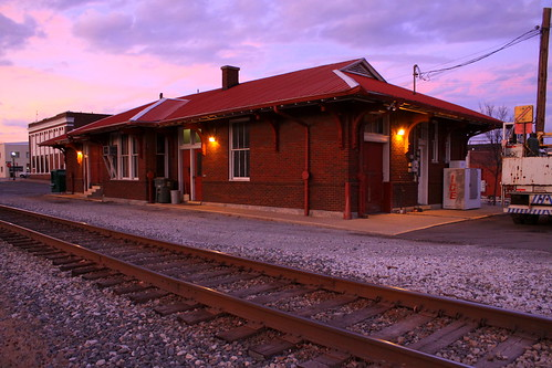 Dickson, TN Train Station at dusk