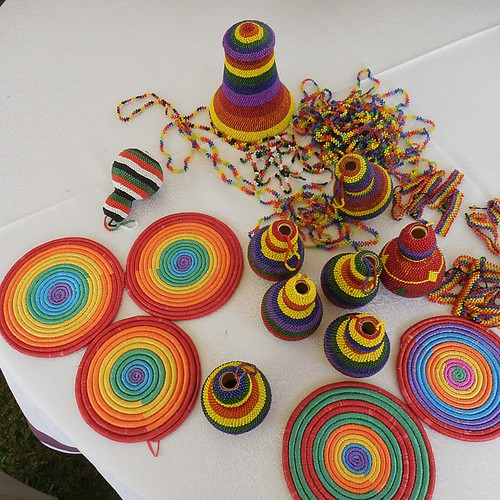 The Rainbow Well being Alliance Mbarara users make and sell these regular Acholi objects protected in rainbow colors. I loaded up.