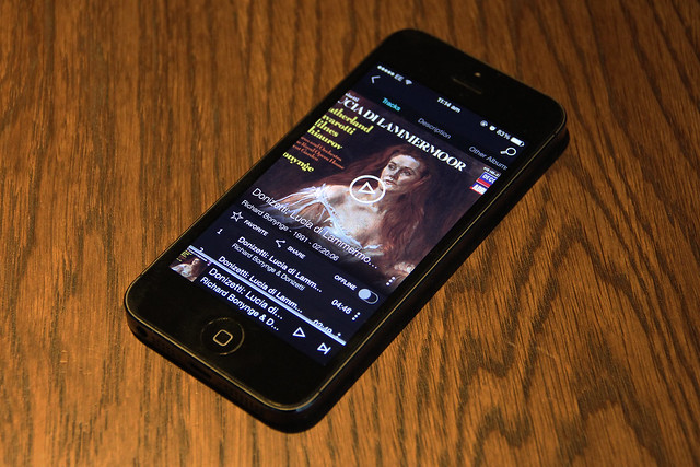 Music streaming service TIDAL running on iPhone © ROH, 2015