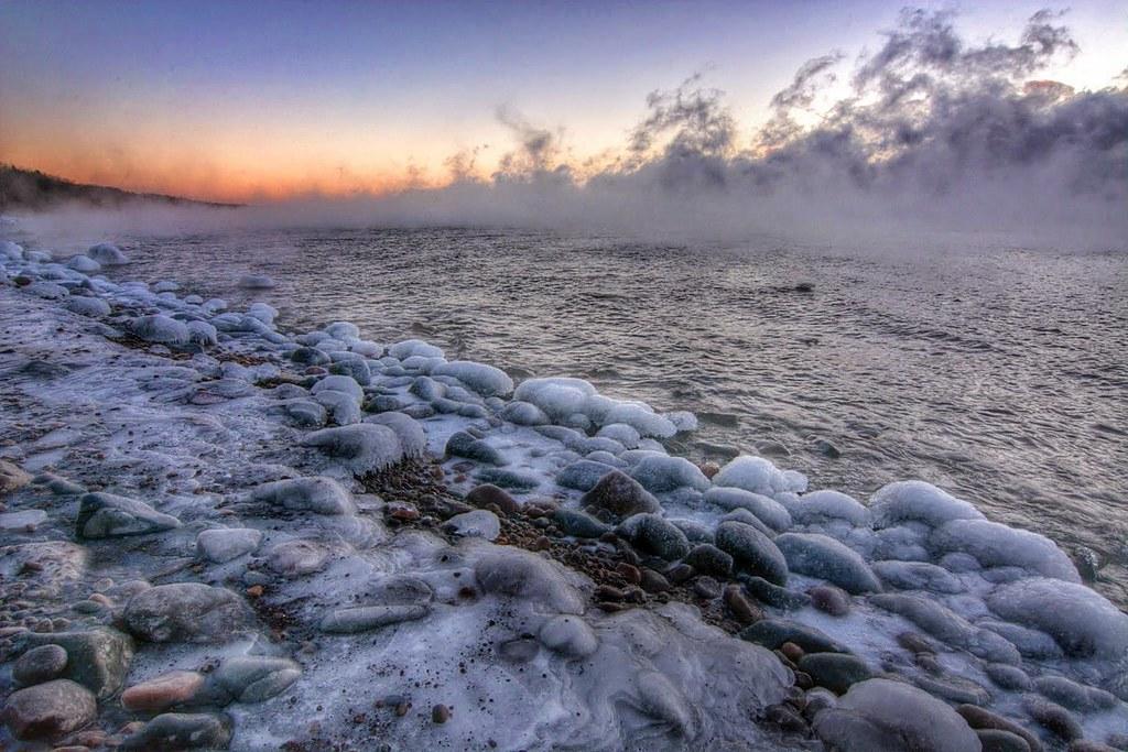 Cold Lake Superior Sunrise
