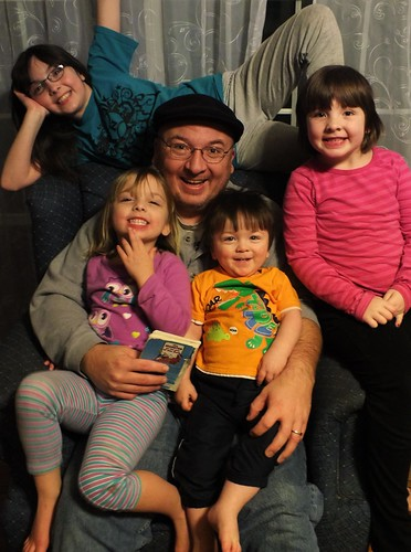 Dave and the kids on his 42nd birthday