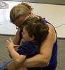 Ms. Ronda saying goodbye to Gabe