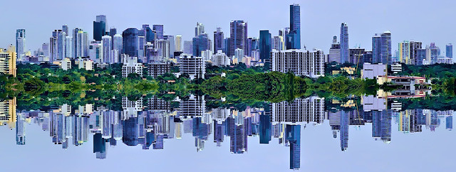 Reflections from downtown Miami, Florida, U.S.A. / The Magic City