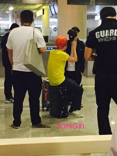 BIGBANG lArrival Shenzhen from Seoul 2015-08-07 001