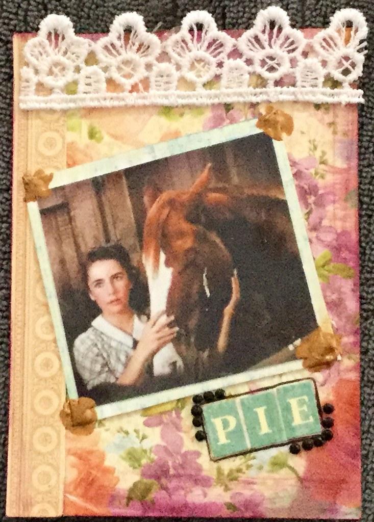 VC: Elizabeth Taylor ATC | 'Pie'  Elizabeth with the Pie in … | Flickr