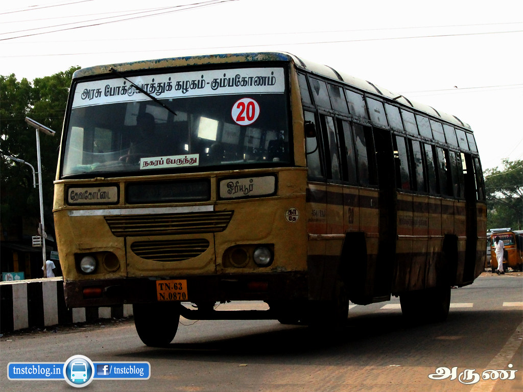 TN-63N-0870 of Devakottai Depot Route 20 Devakottai - Oriyur
