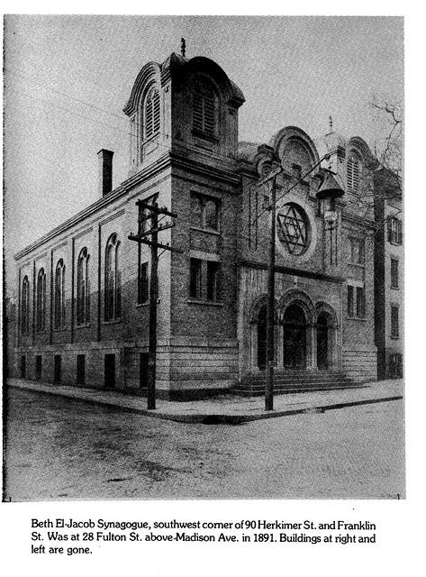 Temple Beth-El Jacob  Herkimer st  c 1910  albany ny