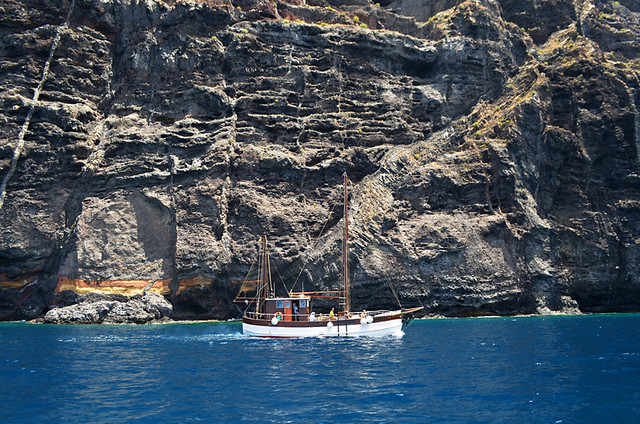 Blue seas and old cliffs, Los Gigantes, May, Tenerife