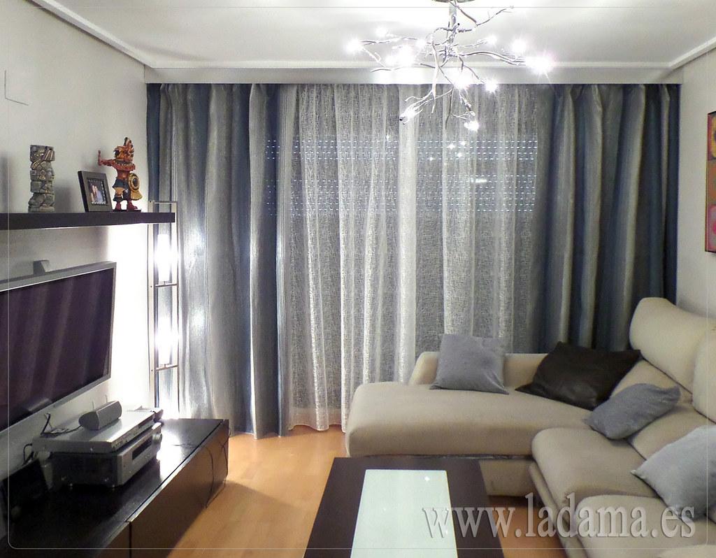 Fotograf as de cortinas modernas la dama decoraci n - Cortinas para salones modernos ...