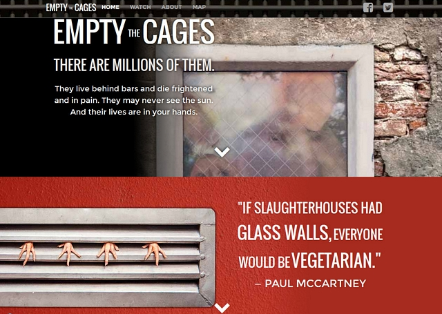 Empty the cages website
