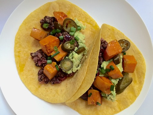 November 6 #dailylunches - black bean & sweet potato tacos