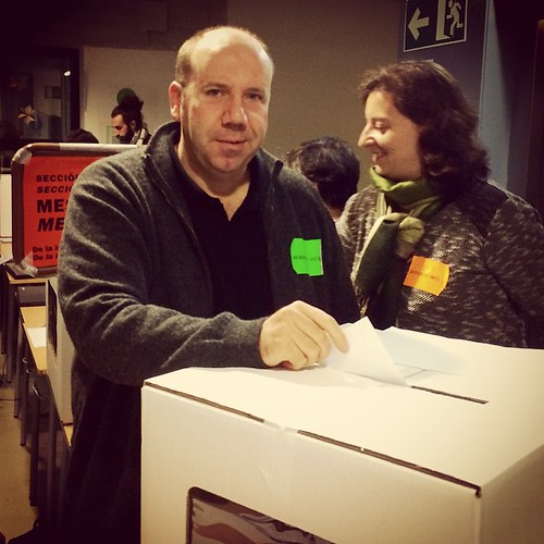 Votant com a vocal del #9N2014 #apeudemesa9N #HemVotatHemGuanyat #9N #Gelida #Penedès
