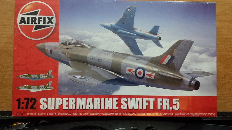 1:72 Scale Hornby A04003 Airfix Supermarine Swift FR.5 Model Kit